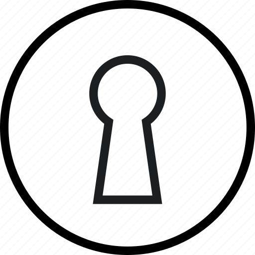 key, keyhole, protection, security icon