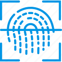 biometric, encryption, fingeprint, protection, scan, security icon