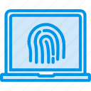 biometric, encryption, fingerprint, protection, security icon