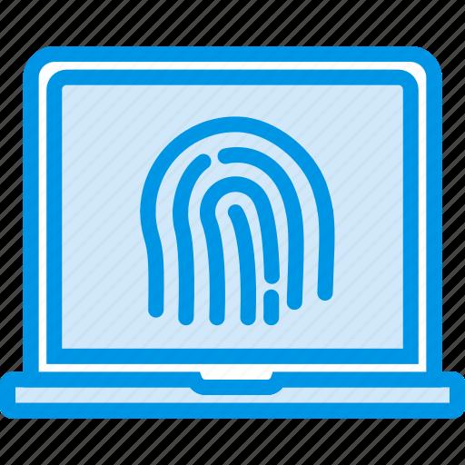 biometric, encryption, fingerprint, protection, security icon