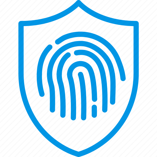antivirus, biometric, encryption, fingerprint, protection, recognition, security icon