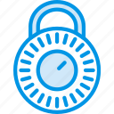 closed, combination, encryption, lock, protection, security icon