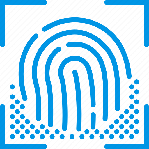 encryption, fingerprint, protection, recognition, security icon
