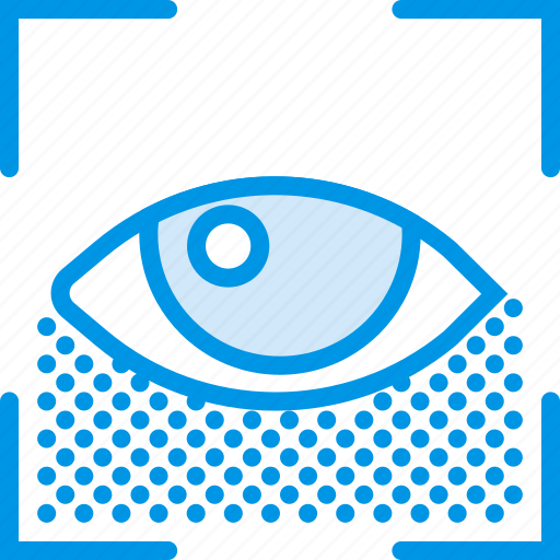encryption, protection, recognition, retina, security icon