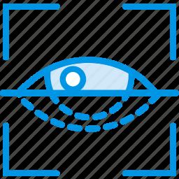 encryption, protection, retina, scan, security icon
