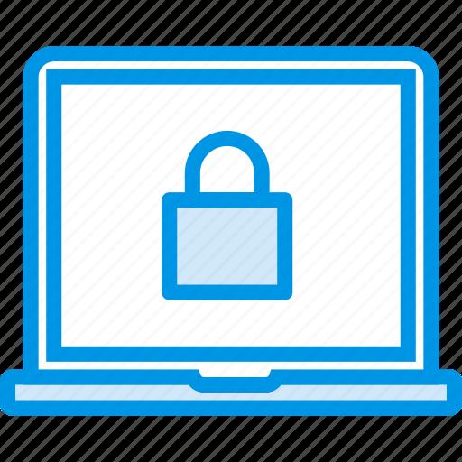 code, encryption, laptop, password, protection, security icon