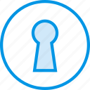 key, keyhole, lock, protection, security, unlock icon