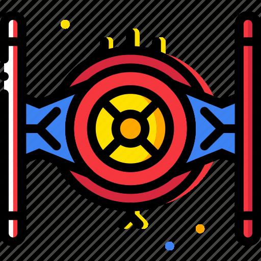 cosmos, fighter, space, tie, universe icon