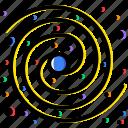 cosmos, milky, space, the, universe, way icon