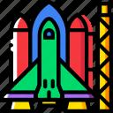 cosmos, launch, pad, space, spaceship, universe icon
