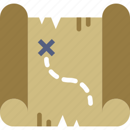 camping, location, map, outdoor, survival icon