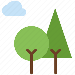 birds, camping, forest, outdoor, survival, trees icon