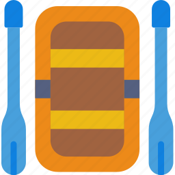 boat, camping, outdoor, rafting, survival, water icon