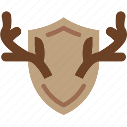 antlers, camping, deer, hunting, outdoor, survival, trophy icon