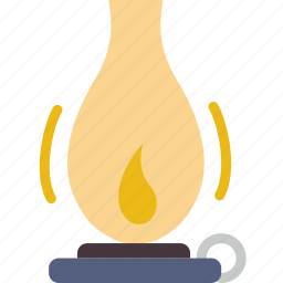 camping, fire, gas, lamp, light, outdoor, survival icon
