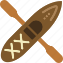 camping, canoe, outdoor, row, survival, water icon