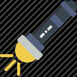 battery, camping, flashlight, light, outdoor, survival icon