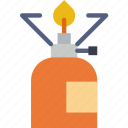 camping, cooker, fire, gas, light, outdoor, survival icon