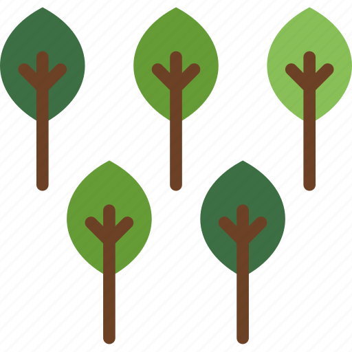 camping, forest, outdoor, survival, trees icon