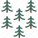 outdoor, camping, pines, survival, trees, wood icon