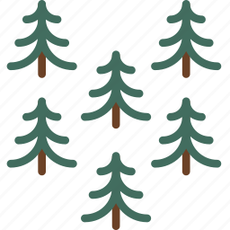 camping, outdoor, pines, survival, trees, wood icon