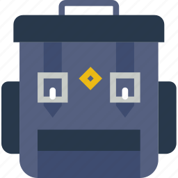 backpack, camping, clothes, outdoor, survival icon
