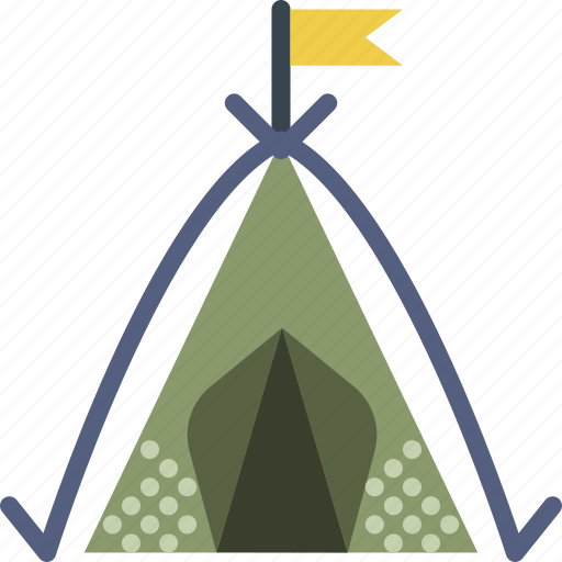 camping, outdoor, shelter, survival, tent icon