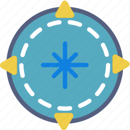 camping, compass, location, outdoor, survival icon