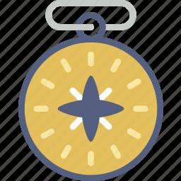camping, compass, location, orientation, outdoor, survival icon