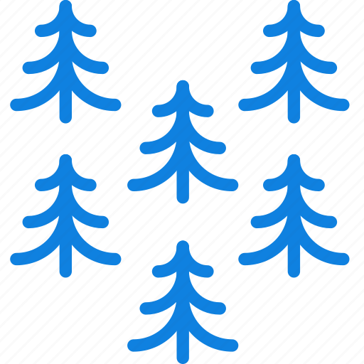 camping, forest, outdoor, pines, survival, trees icon