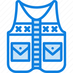 boat, camping, fishing, lake, outdoor, survival, vest icon