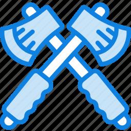axe, camping, cut, hatchets, outdoor, survival icon