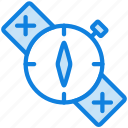 camping, compass, location, orientation, outdoor, survival icon