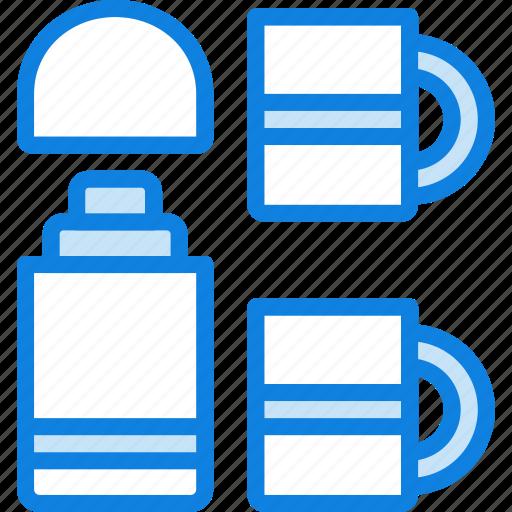 beverage, camping, hot, outdoor, survival, thermos icon