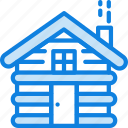 cabin, camping, nature, outdoor, shelter, survival icon