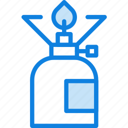 camping, cooker, fire, gas, outdoor, survival icon
