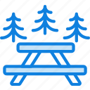 area, camping, forest, nature, outdoor, picnic, survival icon