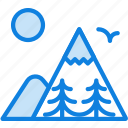 camping, mountainside, nature, outdoor, survival, trees icon