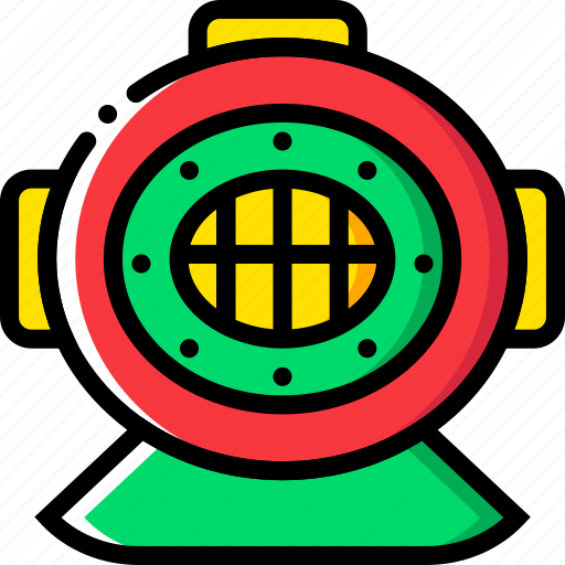 deep, diving, gear, journey, travel, voyage icon