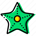 journey, starfish, travel, voyage icon