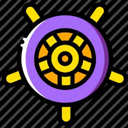 journey, navigator, travel, voyage, wheel icon