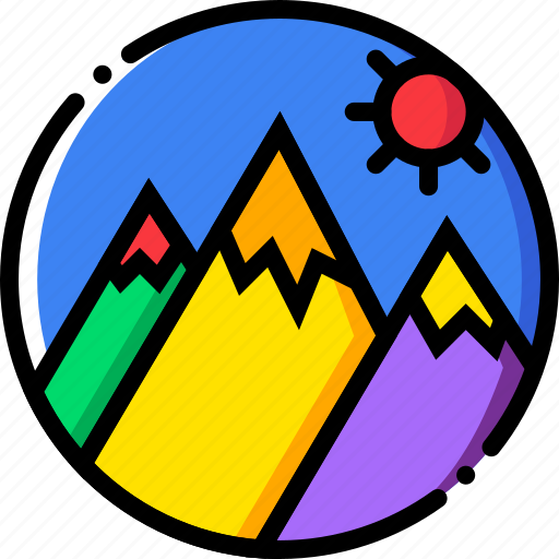 journey, mountainside, travel, voyage icon