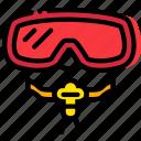 journey, mask, scuba, travel, voyage icon