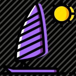 journey, parasailing, travel, voyage icon