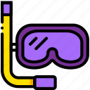 diving, gear, journey, travel, voyage icon