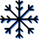 climate, precipitation, snowflake, weather icon
