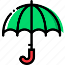 climate, precipitation, umbrella, weather icon