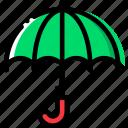 climate, precipitation, umbrella, weather