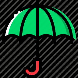 climate, precipitation, umbrella, weather icon