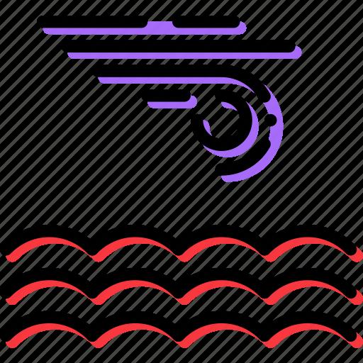 calm, climate, precipitation, sea, weather icon